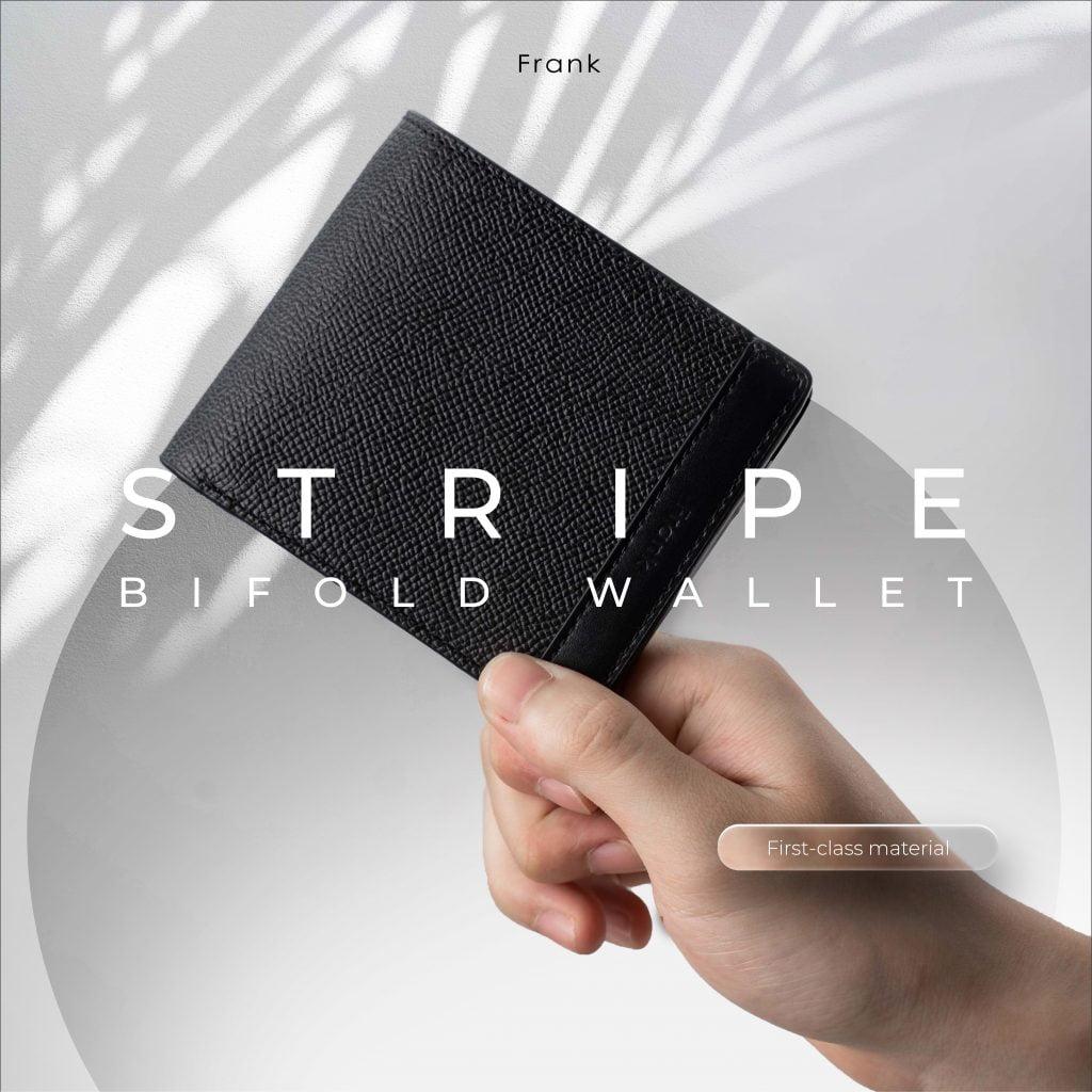 Van-da-dac-trung-cua-dong-da-epsom-tren-mau-vi-stripe-bifold-wallet-của-frank